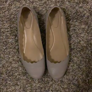 Gray Chloe flats in a 39.5 from Paris